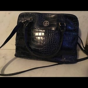 Giani Bernini navy solid croc purse